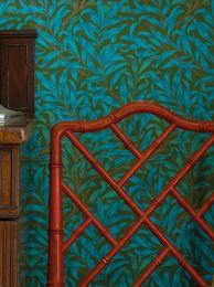 Papel de parede Darcie azul turquesa