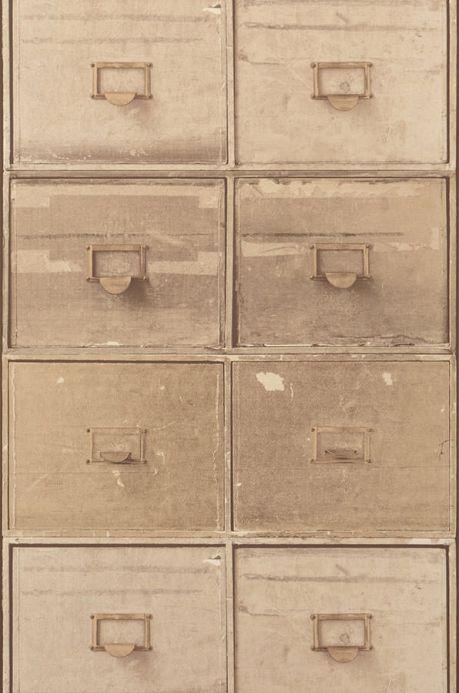 Archiv Wallpaper Lombette brown beige Roll Width