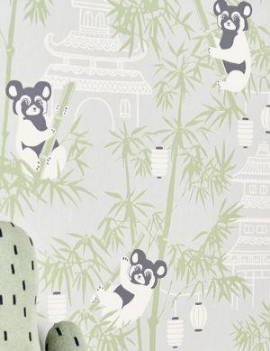 Papel de parede Bambu verde samambaia Ver quarto