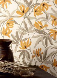Wallpaper Tarbana ochre brown