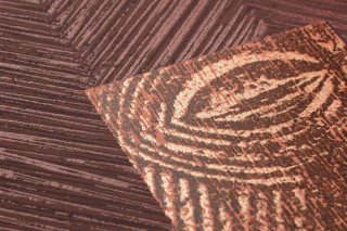 Wallpaper Orest Shimmering pattern Matt base surface African style Graphic elements Mahogany brown Rosewood Black brown Nut brown White gold shimmer
