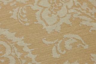 Wallpaper Heigold Matt Looks like textile Baroque damask Beige Light ivory glitter