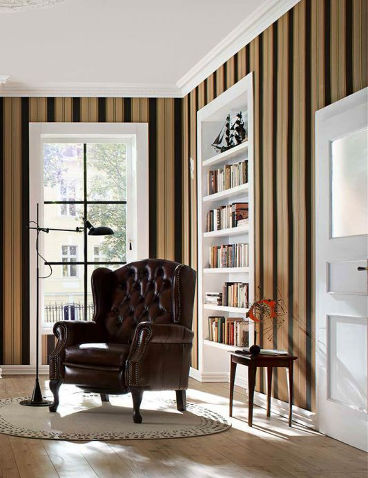 Archiv Wallpaper Tatex gold Room View