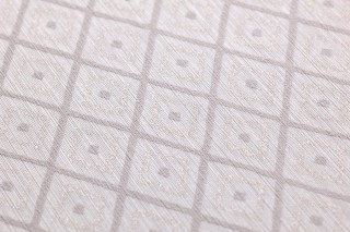 Wallpaper Abigail Shimmering Rhombus ornaments White rose Cream white glitter Rosewood