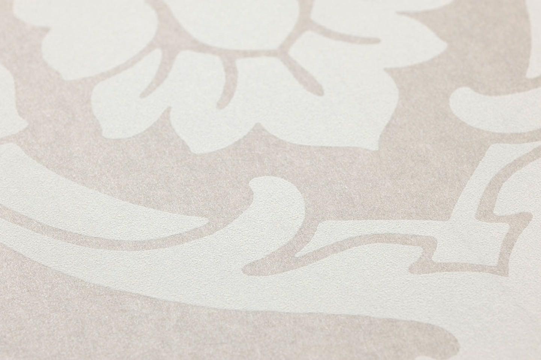 Papel pintado maradila beige gris ceo claro blanco - Papel pintado de los 70 ...