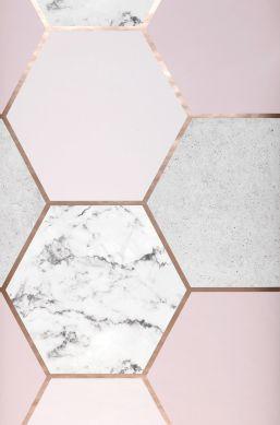 Wallpaper Novara light pink Roll Width