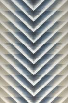 Wallpaper Ramses Matt Zigzag Cream Grey blue Olive grey