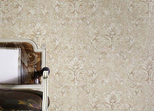 Papel pintado Vinicius marfil claro Ver habitación