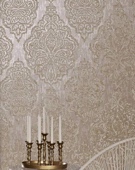 Archiv Wallpaper Olivia light beige grey Room View