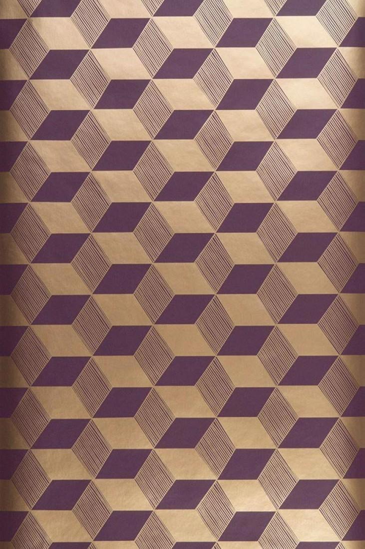 papier peint squares violet dor papier peint des. Black Bedroom Furniture Sets. Home Design Ideas