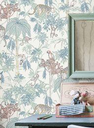 Wallpaper Ipanema green blue
