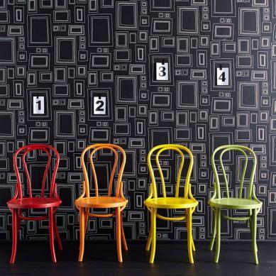 Papel pintado Frames negro Ver habitación