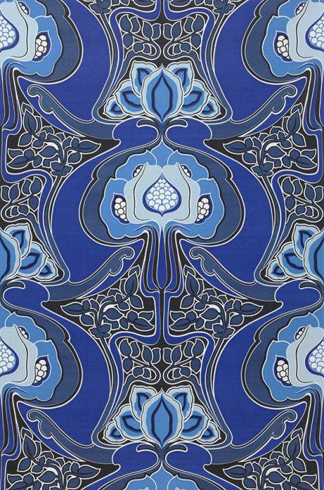 Archiv Papier peint Tereza bleu brillant Largeur de lé