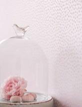 Wallpaper Christella Shimmering Rhombuses Pale rosé shimmer