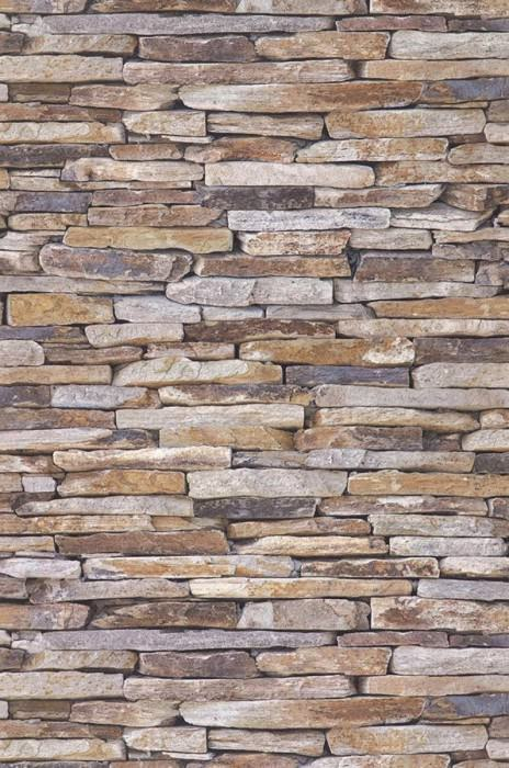 Wallpaper Stones Matt Natural stones Brown beige Grey brown Light grey