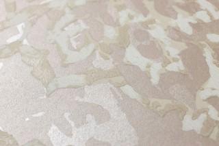 Tapete Olivia Leimdruck Muster matt Untergrund schimmernd Barocke Ornamente Hellbeigegrau Cremeweiss Graubeige Hellelfenbein
