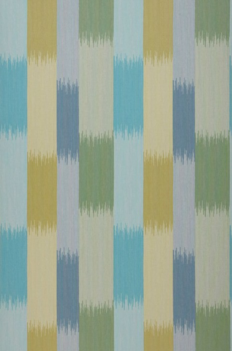 Wallpaper Milella Matt Stripes Pale green Grey blue Olive yellow Turquoise blue