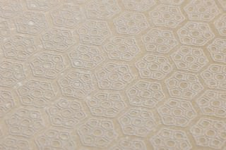 Wallpaper Imana Matt pattern Shimmering base surface Geometrical elements Hexagons Beige Cream