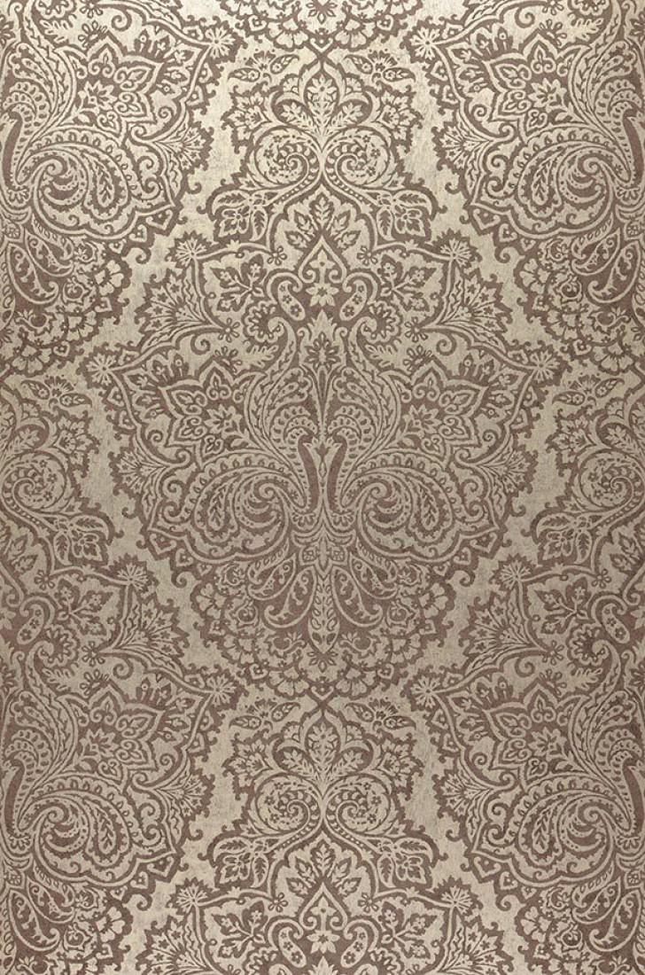 Papel pintado perun oro blanco marr n gris ceo for Papel pintado barroco