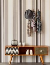Wallpaper Mareget Matt Stripes Grey beige Grey brown Grey white