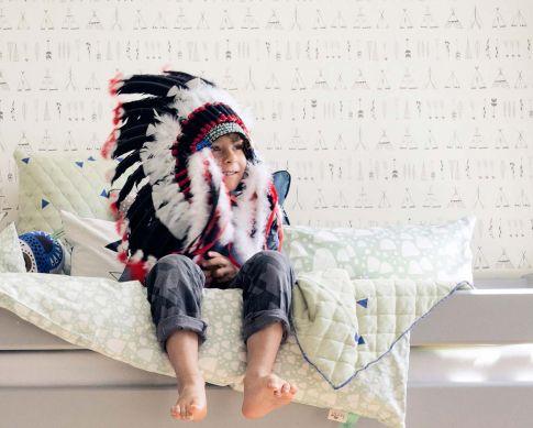 Tapete Native Cremeweiss Raumansicht
