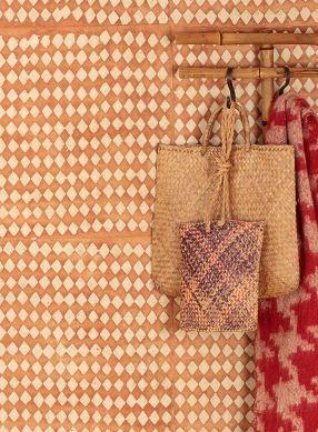 Papier peint Yamantaka brun orange Vue pièce