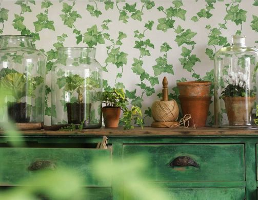 Wallpaper Tabea green Room View