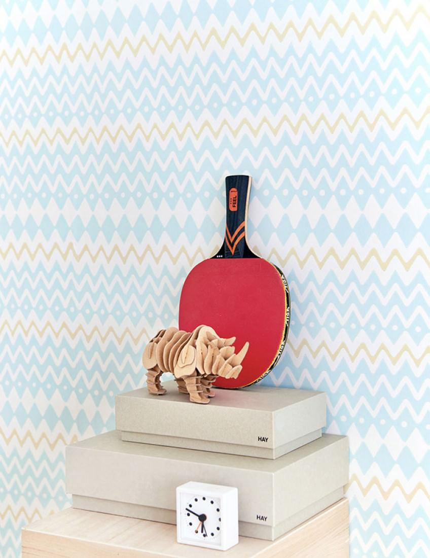 Tomoko cremeweiss hellgelb pastellt rkis for Kinderzimmer 70er