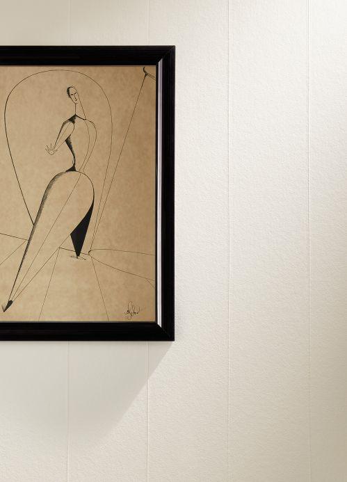 Papel pintado rayas Papel pintado Bauhaus Original 05 blanco Ver habitación