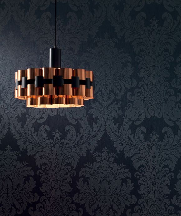 Luxury Wallpaper Wallpaper Odilia black Room View