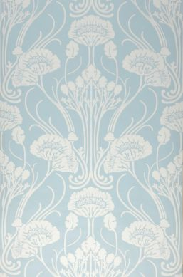 Papel de parede Sibia azul claro Bahnbreite
