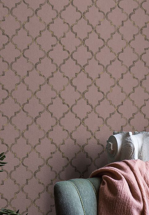 Papel pintado oriental Papel pintado Casalar palo de rosa Ver habitación