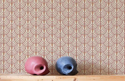 Wallpaper Yamila wine red Room View
