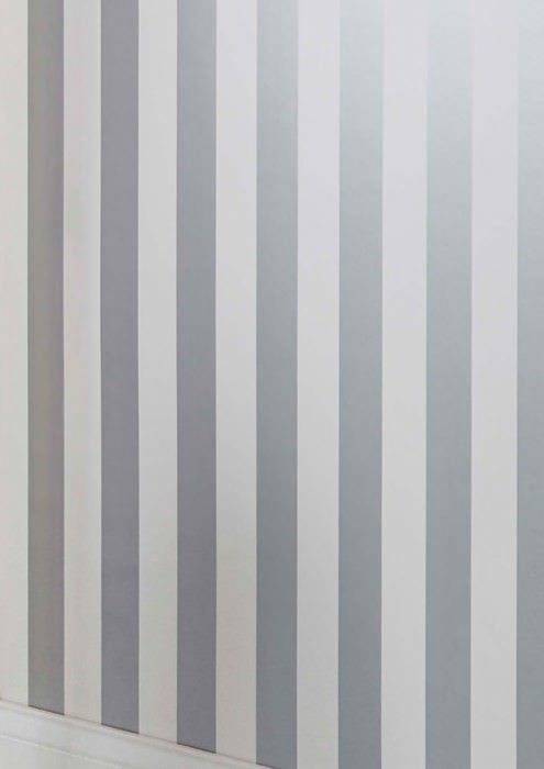 Wallpaper Zuleika Matt Stripes Silver shimmer White