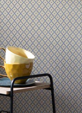 Papel de parede Calaluna dourado mate Raumansicht
