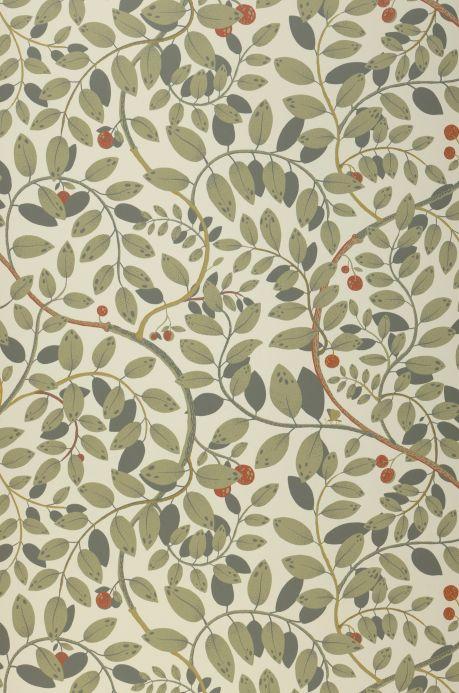 Papel pintado botánico Papel pintado Grada blanco crema Bahnbreite