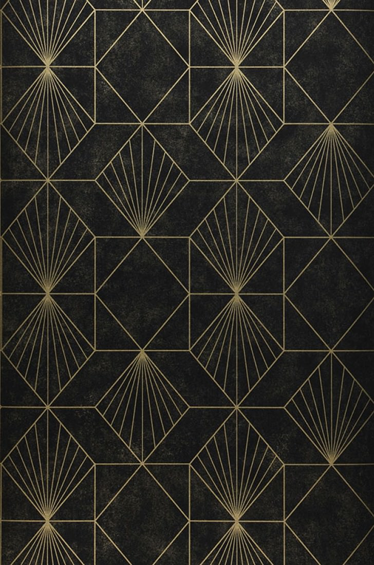 wallpaper maurus gold black wallpaper from the 70s. Black Bedroom Furniture Sets. Home Design Ideas