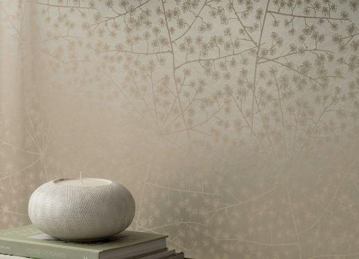 Papel de parede Belmira branco acinzentado Ver quarto