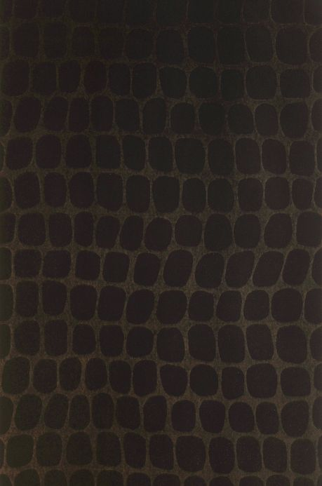 Bedroom Wallpaper Wallpaper Croco Velvet dark brown Bahnbreite
