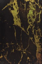 Wallpaper Marble 07 Shimmering Imitation marmor Yellow gold Black brown