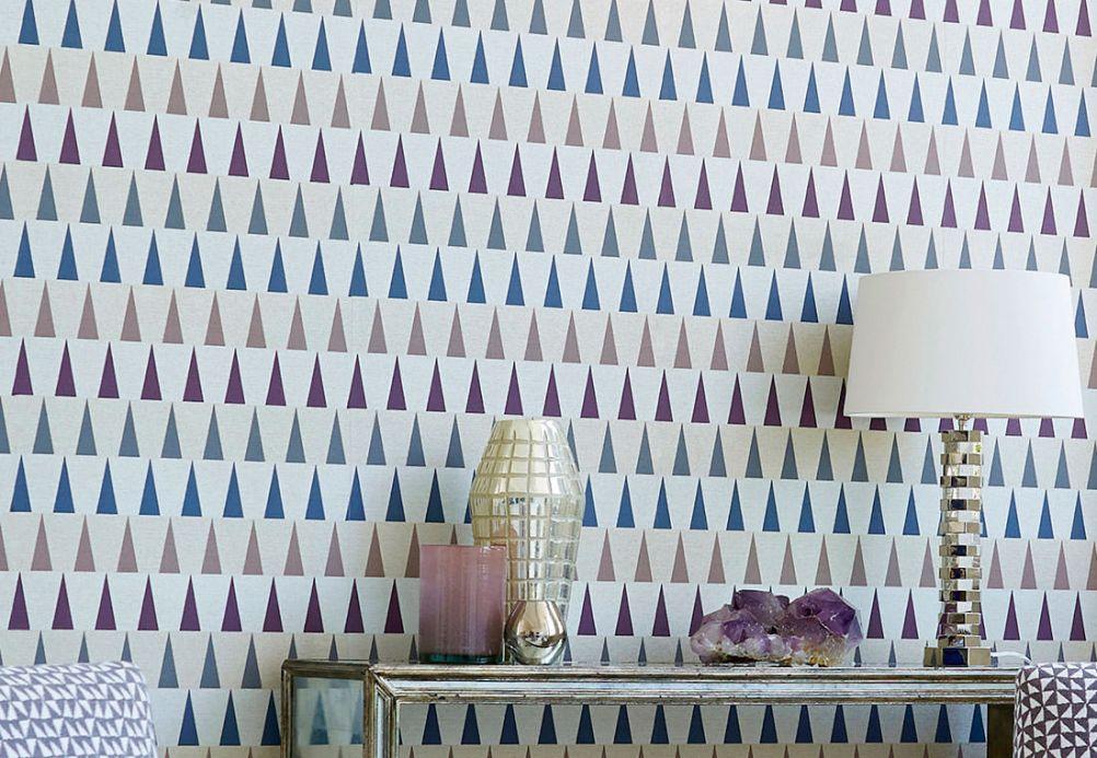 Archiv Papier peint Magica violet cramoisi Vue pièce