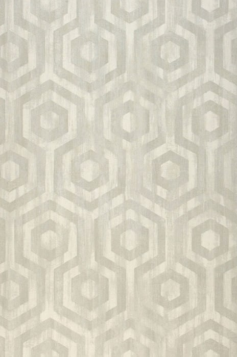 Wallpaper Marno Matt Looks like textile Hexagons Cream Light grey Light beige grey