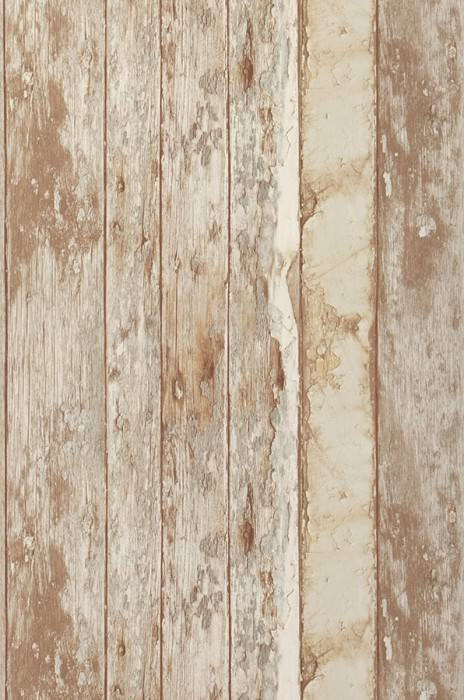 Wallpaper Wood Effect Matt Old wooden boards Beige Pale brown Pale grey Cream Light ivory