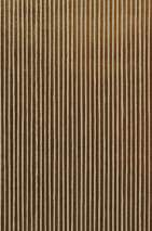 Wallpaper Isidor Matt pattern Shimmering base surface Stripes Brown Yellow gold Cream