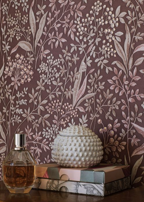 New arrivals! Wallpaper Pilar mahogany brown Room View