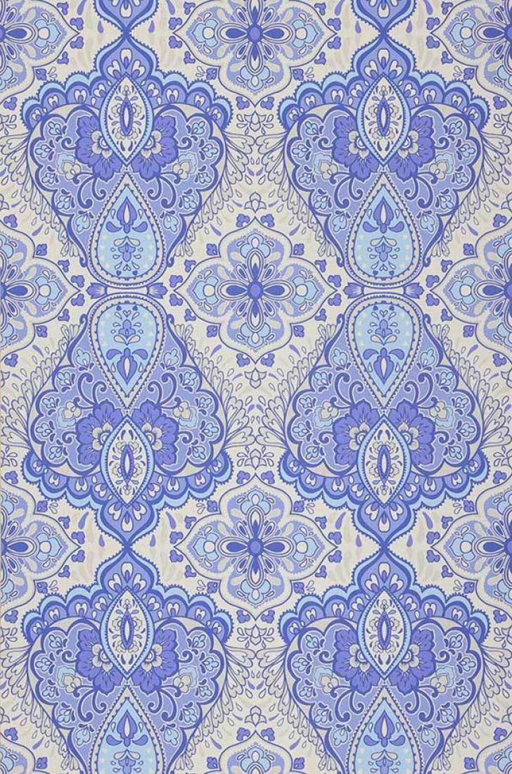 Rosmerta papel pintado azul papeles pintados extra - Papeles pintados de los 70 ...
