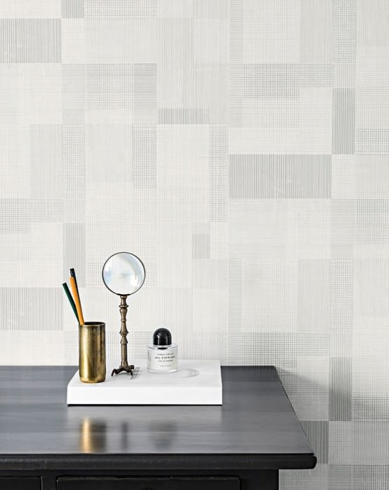 Wallpaper Garim Matt Graphic elements Grey tones White