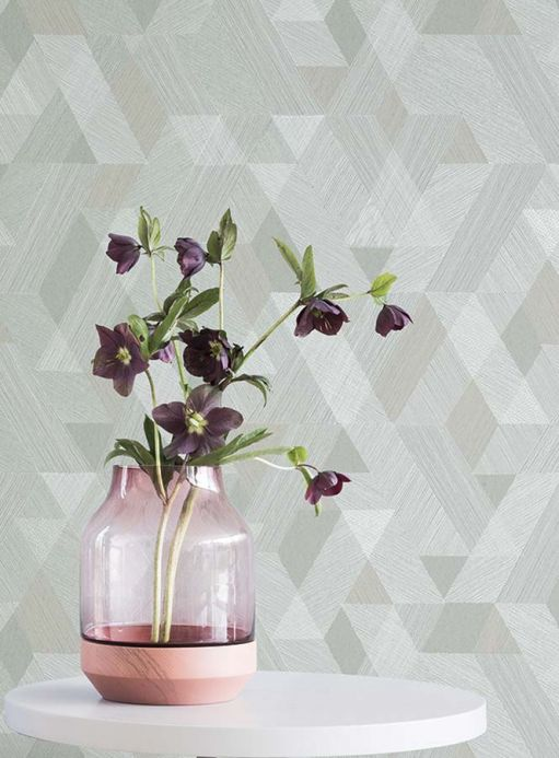 Geometric wallpaper Wallpaper Pegasus grey Room View