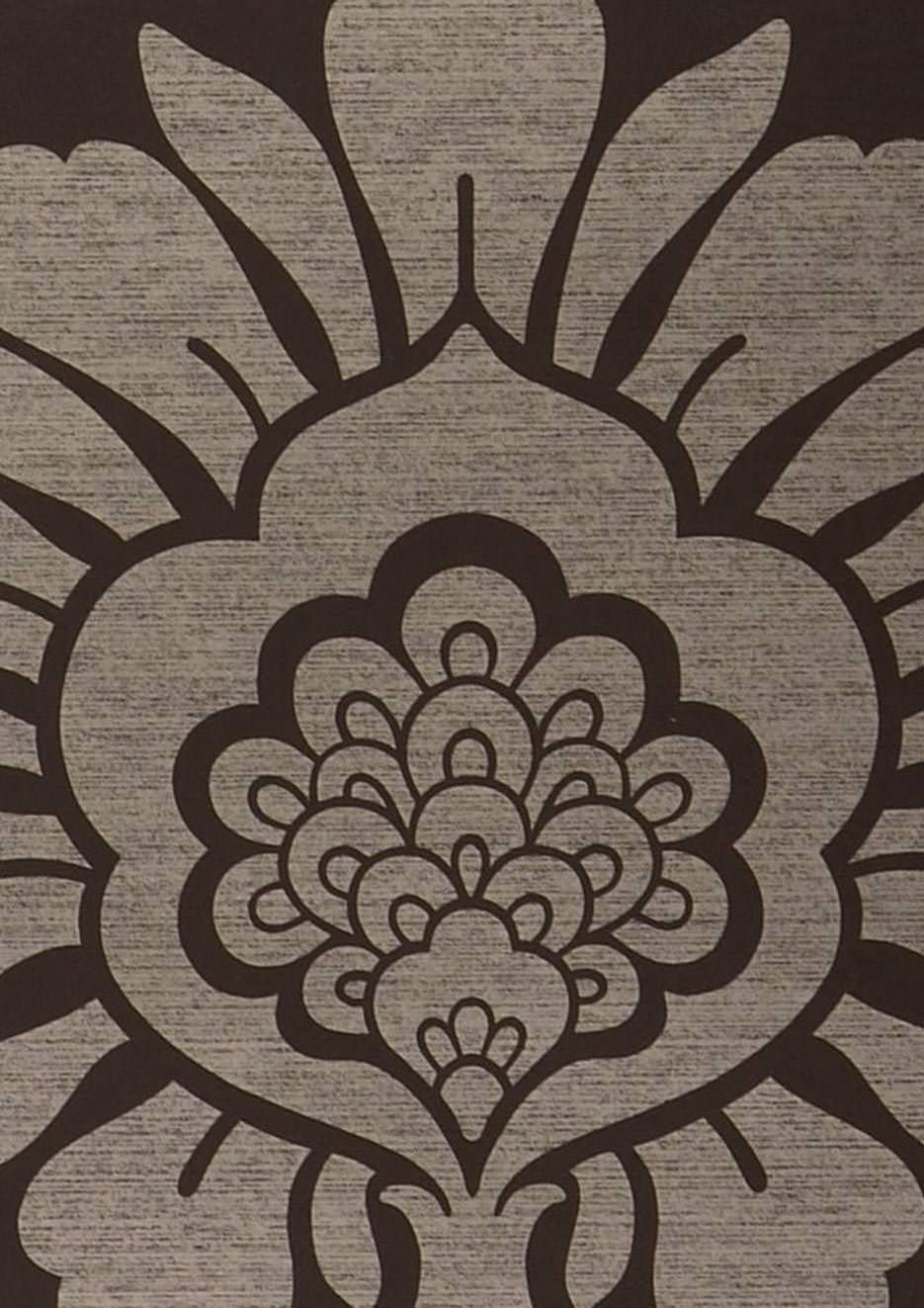 tapete hermes anthrazit weissgold tapeten der 70er. Black Bedroom Furniture Sets. Home Design Ideas