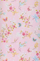 Wallpaper Benina Matt Blossoms Butterflies Branches Light pink Strawberry red Yellow Yellow green Light blue White